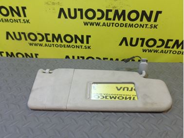 3B0857552AK 3B0857552R - Right sun visor - VW Škoda Seat