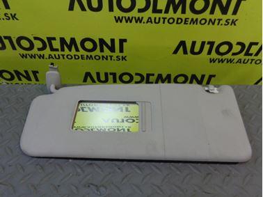 Left sun visor 4B0857551 4B0857551A 4B0857551E - Audi A6 C5 4B 2003 Avant Quattro 2.5 TDI 132 kW AKE
