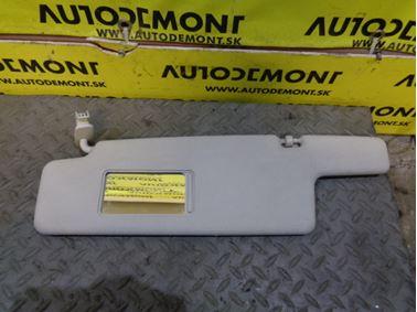 Left sun visor 6Y0 6Y - Skoda Fabia 1 6Y 2002 Combi 1.9 Sdi 47 kW ASY