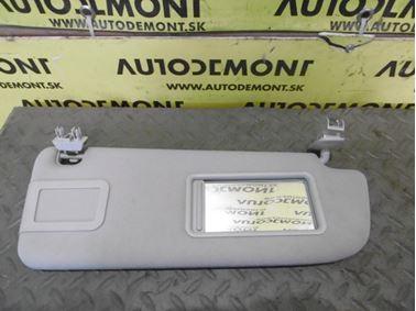 Right sun visor 4F0857552 - Audi A6 C6 4F 2008 Avant Quattro S - Line 3.0 Tdi 171 kW ASB KGX
