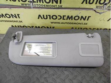 Left sun visor 4F0857551 - Audi A6 C6 4F 2008 Avant Quattro S - Line 3.0 Tdi 171 kW ASB KGX