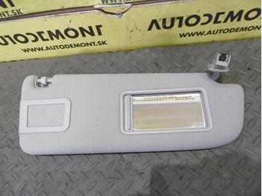 Right sun visor 4F0857552K 4F0857552L - Audi A6 C6 4F 2006 Avant Quattro 3.0 TDI 165 kW BMK HVE