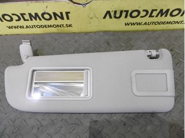 Left sun visor 4F0857551K 4F0857551L - Audi A6 C6 4F 2006 Avant Quattro 3.0 TDI 165 kW BMK HVE